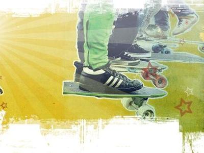 UStream Wallpaper for Skateboard Channel wallpaper photoshop web design visual design