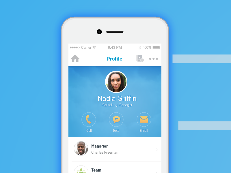 Workday Worker Profile product design visual design ui ux iphone mobile design user experience