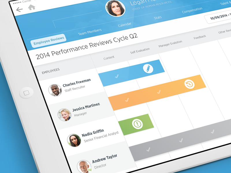 Workday Employee Reviews ipad visual design user experience ux ui mobile design product design