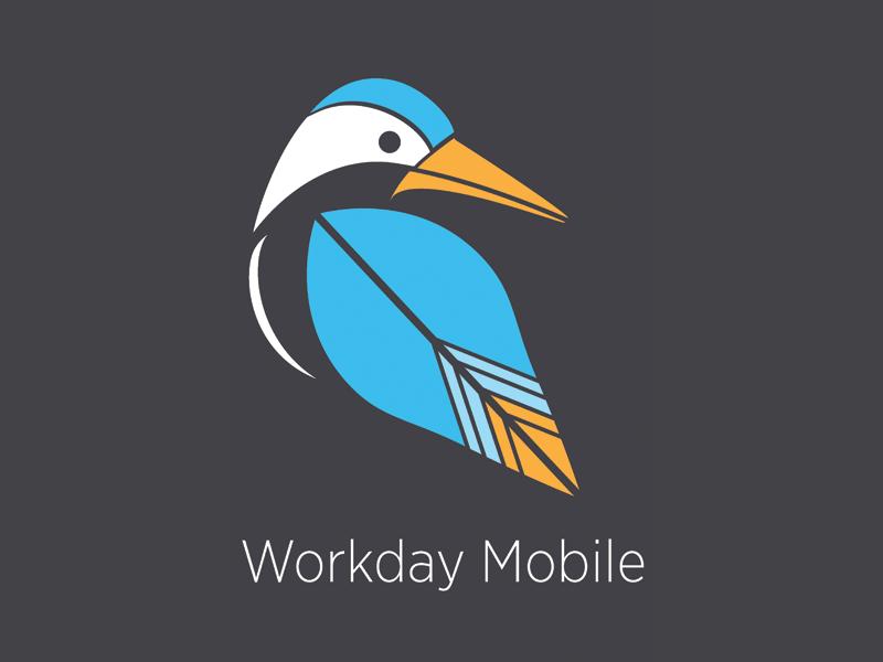 Workday Mobile Graphic illustration logo graphic design bird