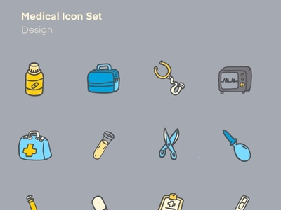 Medical Icon ui illustrator minimal logo vector web typography design icon illustration