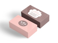 Leli's cupcakes business cards