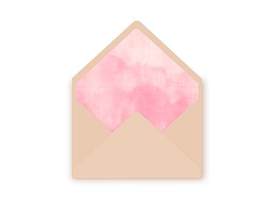 Envelope - watercolour inside identity wedding paper watercolour envelope