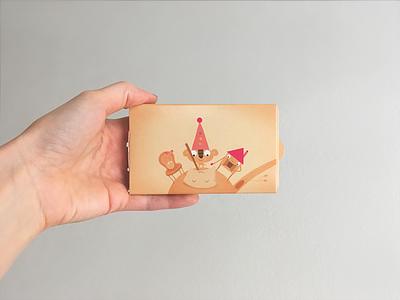 Illustrated chewinggum CharityGums + Ukapupika charity ukapupika illustration design package
