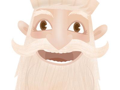 Santa for xmas campaign Škoda veramatys skoda christmas character illustration face santa