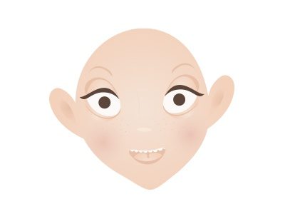 Character design /face/ in progress vector head face design character