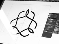 In progress - yoga coach logotype