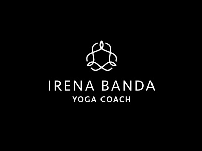 Logotype Irena Banda vector mind body yoga veramatys monochrome ornament sansserif typography logotype