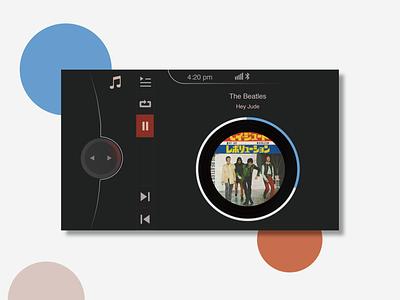 Daily UI 009 - Music Player for BMW minimal music bmw 009 car app musicplayer dailyui009 dailyuichallange ux ui illustration design dailyui branding