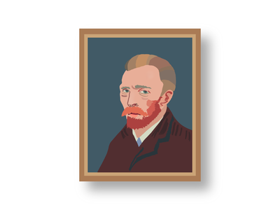 Vincent Van Gogh impressionism adobe illustrator procreate art self portrait painter vincent van gogh vincent van gogh procreate frame oil painting artwork digital illustration digital art digital painting digital drawing vector illustration digitalart