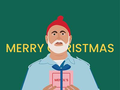 Merry Christmas the grand budapest hotel steve zissou life aquatic holidays holliday happy holidays gift santa santa claus santaclaus wesanderson merry christmas merrychristmas merry xmas merry christmas flat design vector illustration