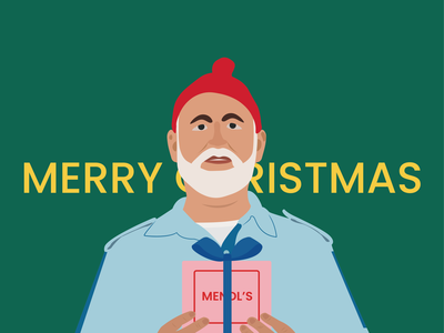 Merry Christmas the grand budapest hotel steve zissou life aquatic holidays holliday happy holidays gift santa santa claus santaclaus wesanderson merry christmas merrychristmas merry xmas merry christmas flat design vector illustration