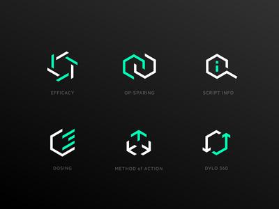 pharma icon set