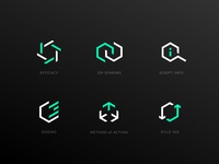 pharma icon set