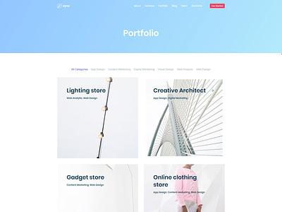 Saas Portfolio Page for Dyno Template website development agency design agency agency web design web html 5 dyno design multipurpose template
