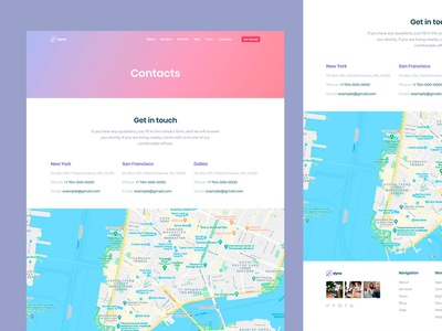 Saas Contact Us Page for Dyno Template web design agency development agency design agency agency web design web html 5 dyno design multipurpose template