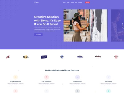 Agency Homepage for Dyno Html Template slider design dyno multipurpose website web design agency web design web landign page ux ui multipurpose template html 5 development agency design agency design creative agency agency