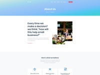 Custom About Us Page for Dyno Html Template