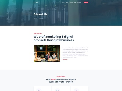 Agency About Us Page for Dyno Html Template