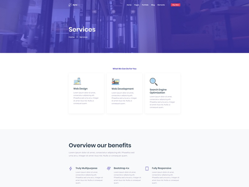 Corporate Service Page For Dyno Html Template By Space Code