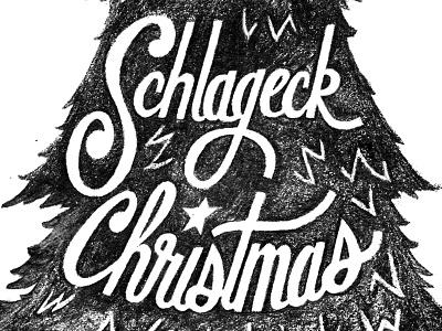 Family Christmas hand lettering holiday christmas