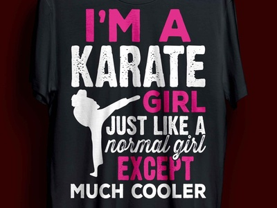 karate t-shirt design