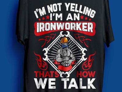 ironworker t-shirt design