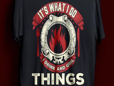 BBQ t-shirt design