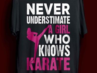 karate girl t-shirt design