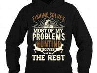 FISHING SOLVES MOST OF MY PROBLEMS T-SHIRT DESIGN