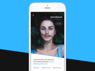 Reimagined Instagram User Profile - #DailyUI #006