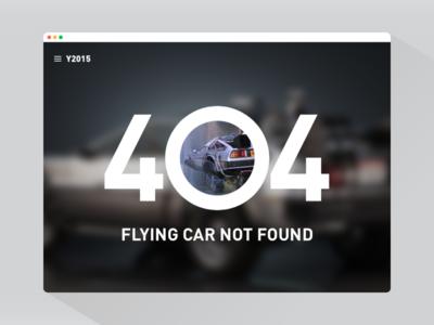 404 Flying Car - #DailyUI #008