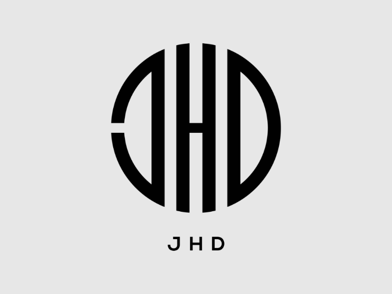 Jhd branding logo monogram