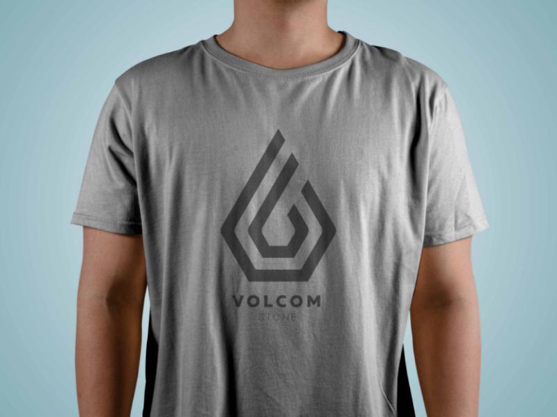 Volcom logo (monogram style) brand grey monogram company shirt clothing branding logo