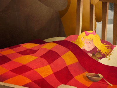 Goldilocks And The Three Bears illustration storybook childrens porridge bears goldilocks tales fairy