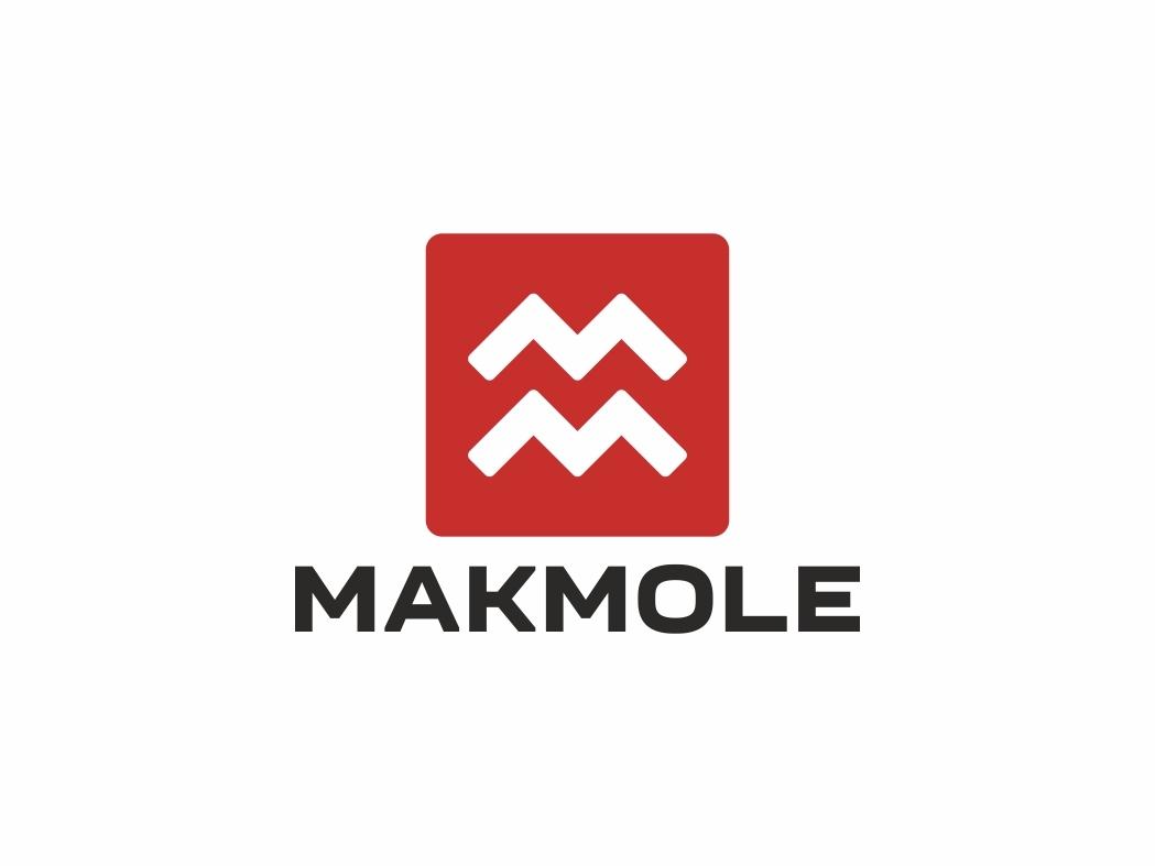 Makmole minimal flat branding vector logo design illustration