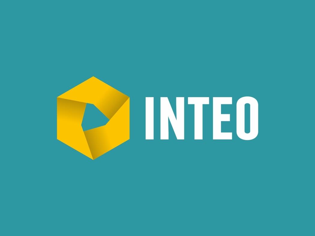 Inteo minimal vector logo design branding