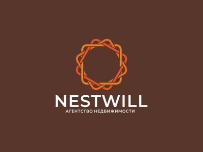 Nestwill minimal vector logo design branding
