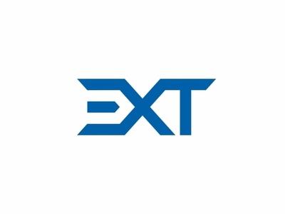 EXT flat minimal vector logo design branding