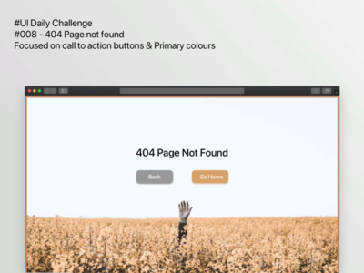 404 page not found DailyUI challenge