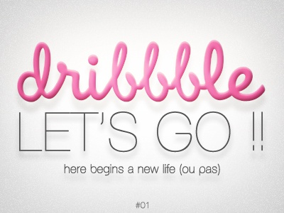 let's go !! dribbble typography clean illustration