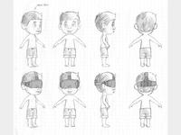 VR Boy - Concept Sketches