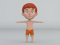 Swimmer Boy Front