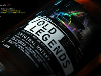 """Packaging design for new whiskey  """"Old Legends"""""""