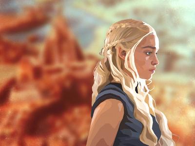 Daenerys illustration game of thrones got daenerys targaryen daenerys targaryen