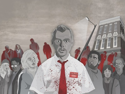You've Got Red On You shaun of the dead sotd movie illustration