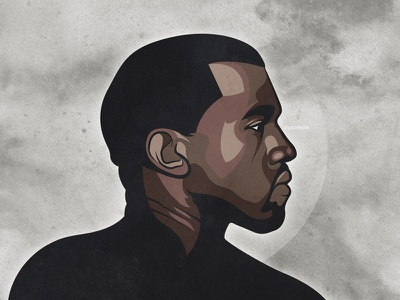 Kanye kanye west kanye west portrait illustration yeezus yeezy