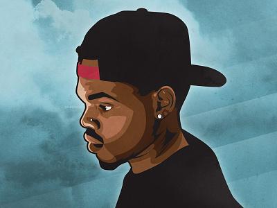 Chance portrait illustration chance the rapper