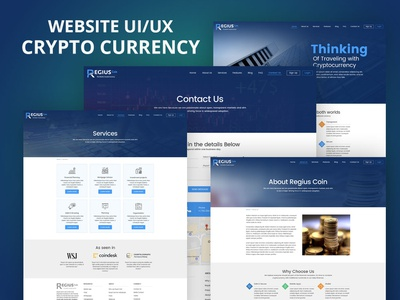 Crypto Currency UI/UX website template web template web design website design website crypto wallet crypto currency cryptocurrency