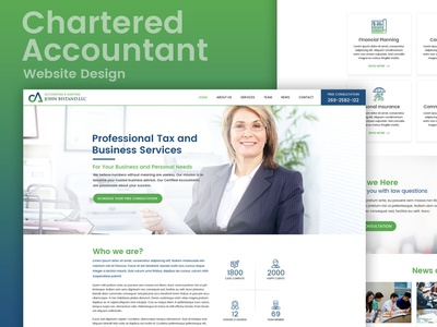 Ca Thumb design chartered accountant ui website template website design